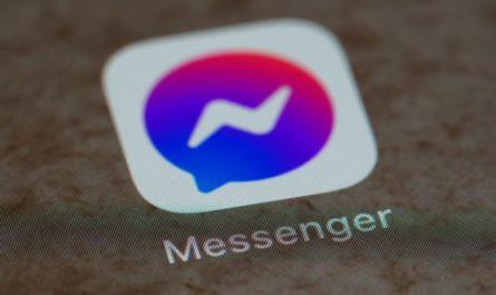 Logo aplikace Messenger, která slouží pro komunikaci.