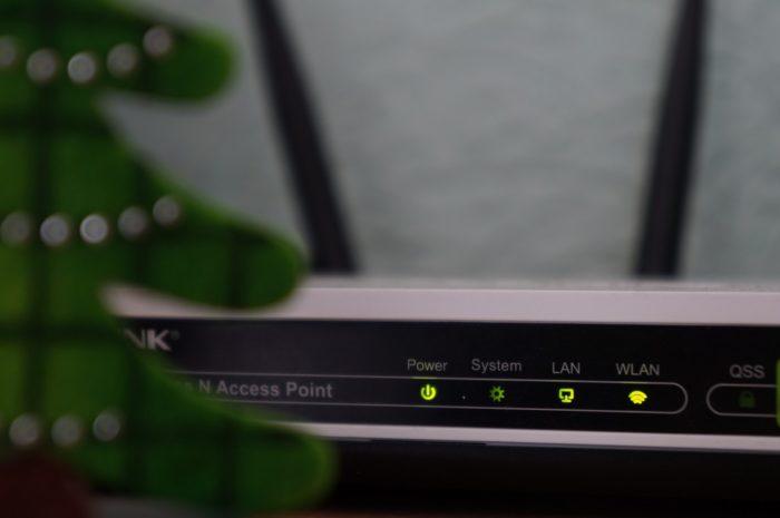 Router, na kterém je prováděno zabezpečení Wi-Fi.